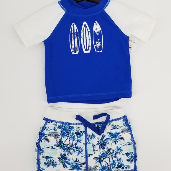 cc3dec773f Tucker + Tate Swim | Tucker Tate Baby Boy 2 Piece Rashguard Suit ...